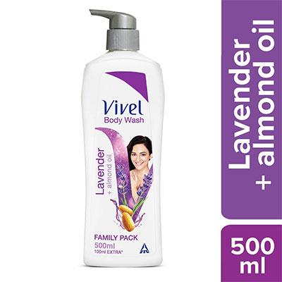 Vivel Body Wash, Lavender and Almond Oil, 500 ml